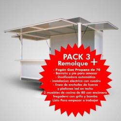 Remolque 3m x 2m, Con maquinaria Pack 3